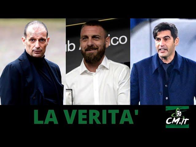 ALLEGRI-DE ROSSI-FONSECA: la VERITA' sulla panchina della ROMA!