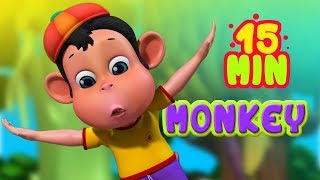 Monkey Scared of Tall Trees | Animal Rhymes and Cartoons for Kids | Infobells