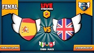 BRAWL STARS WORLD CUP FINAL LIVE! Great Britain VS Spain & Switzerland VS Mexico