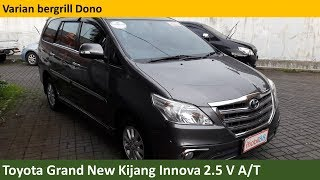 Toyota Grand New Kijang Innova 2.5 V A/T 1st gen Last Facelit (2014) review - Indonesia