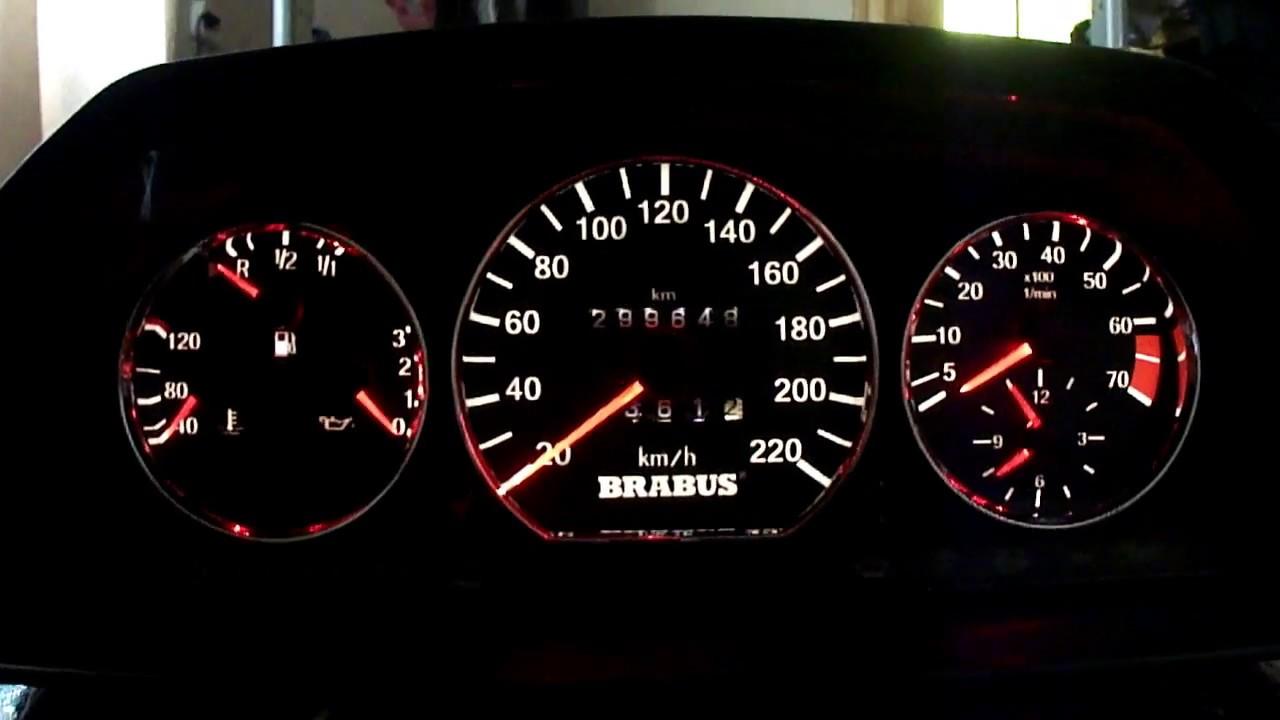 Пересвет Приборной панели Mercedes-Benz W124
