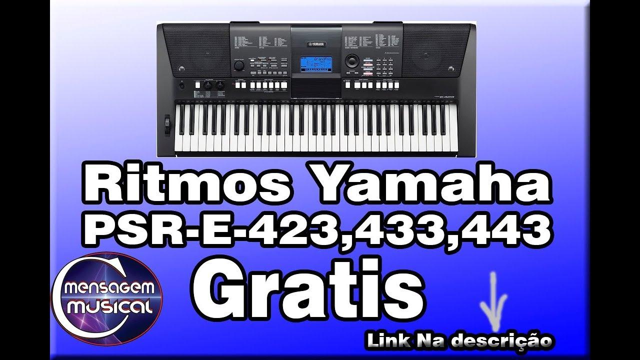 ritmos para teclado yamaha psr e423
