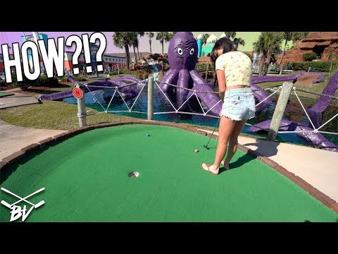 HOW ARE WE SUPPOSED TO MAKE THESE MINI GOLF SHOTS?!
