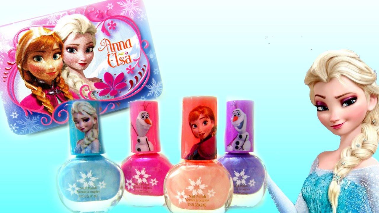 Disney Princess Frozen Nail Polish Set Plus 3D Tin Elsa, Anna and ...