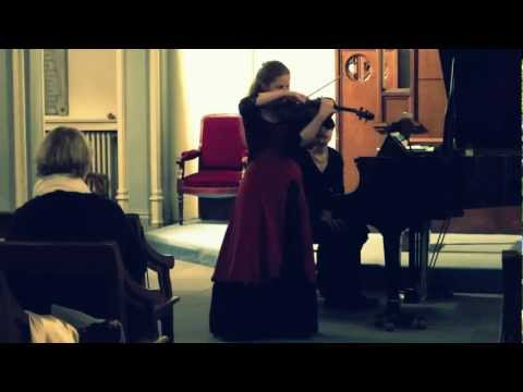 Éléonore Darmon plays Ravel, Tzigane - extract (cadenza for solo violin)