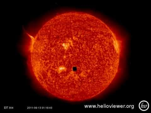 """Black Cube UFO By The Sun Is It """"New Jerusalem"""" Of The Bible?"""
