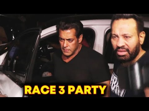 Salman Khan At Jacqueline Fernandez RACE 3 Party