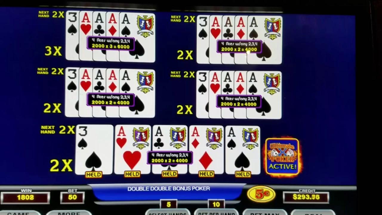 Ultimate X Video Poker Multipliers
