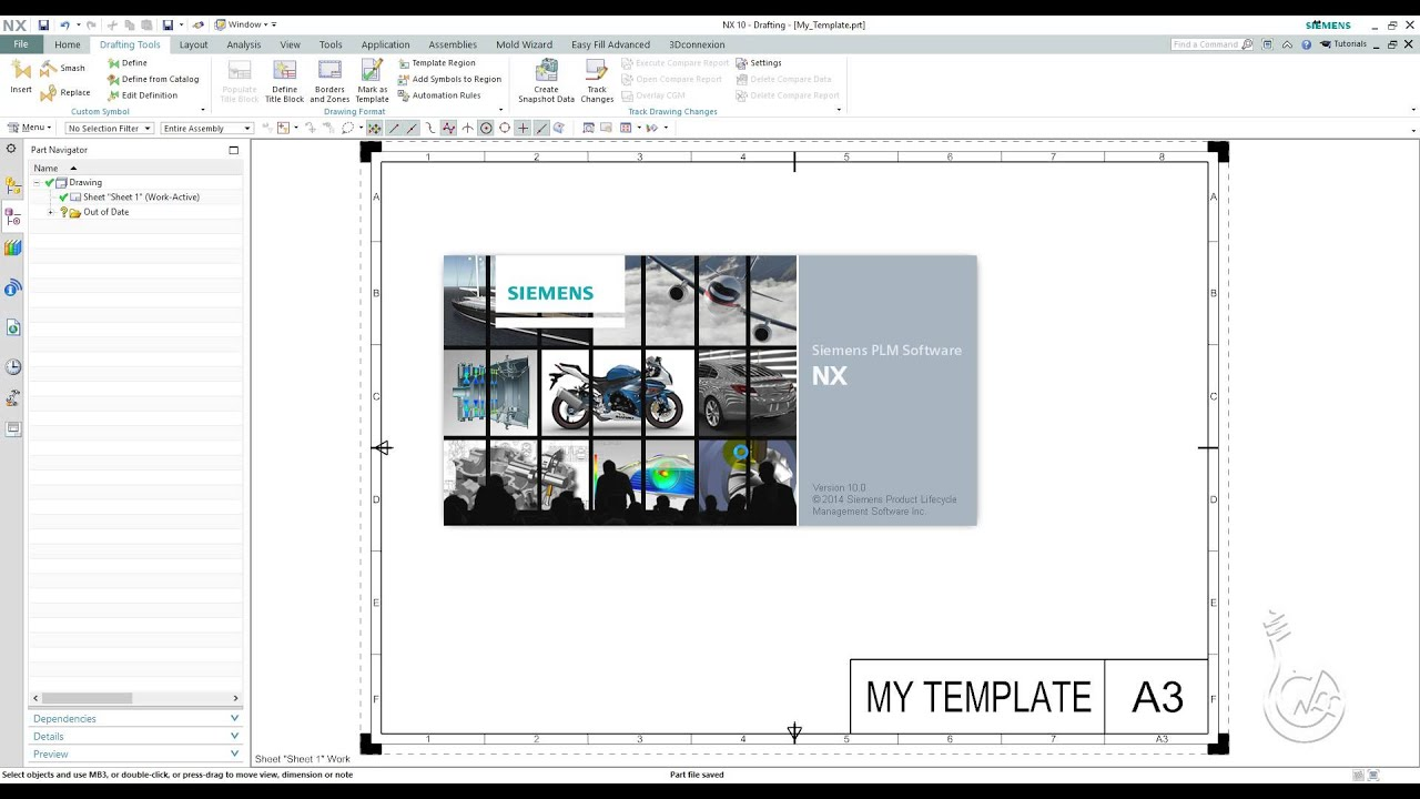 Siemens Nx 10 0 Creating Drawing Templates
