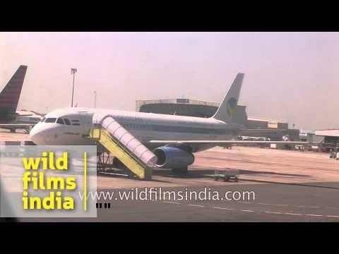 Flight takes off from Indira Gandhi International Airport, Delhi