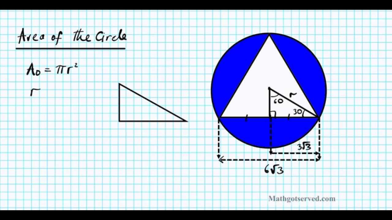 Special triangles inscribed area of shaded region equilateral special triangles inscribed area of shaded region equilateral circle youtube ccuart Gallery