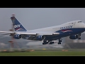 B747 Beautiful condensation landing at AMS EHAM by Silkway.