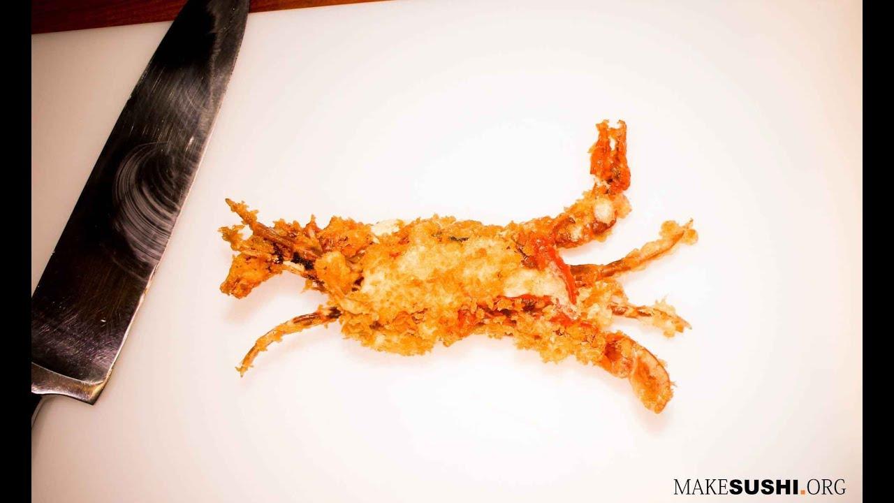 how to make tempura softshell crab youtube