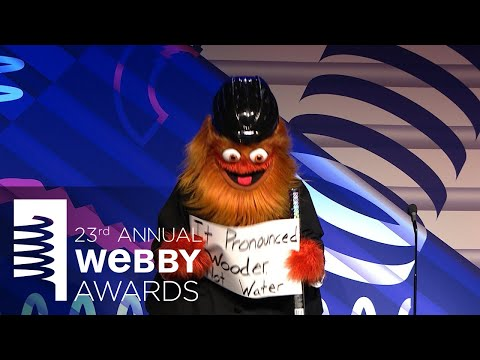Gritty's 5-Word Speech at the 23rd Annual Webby Awards