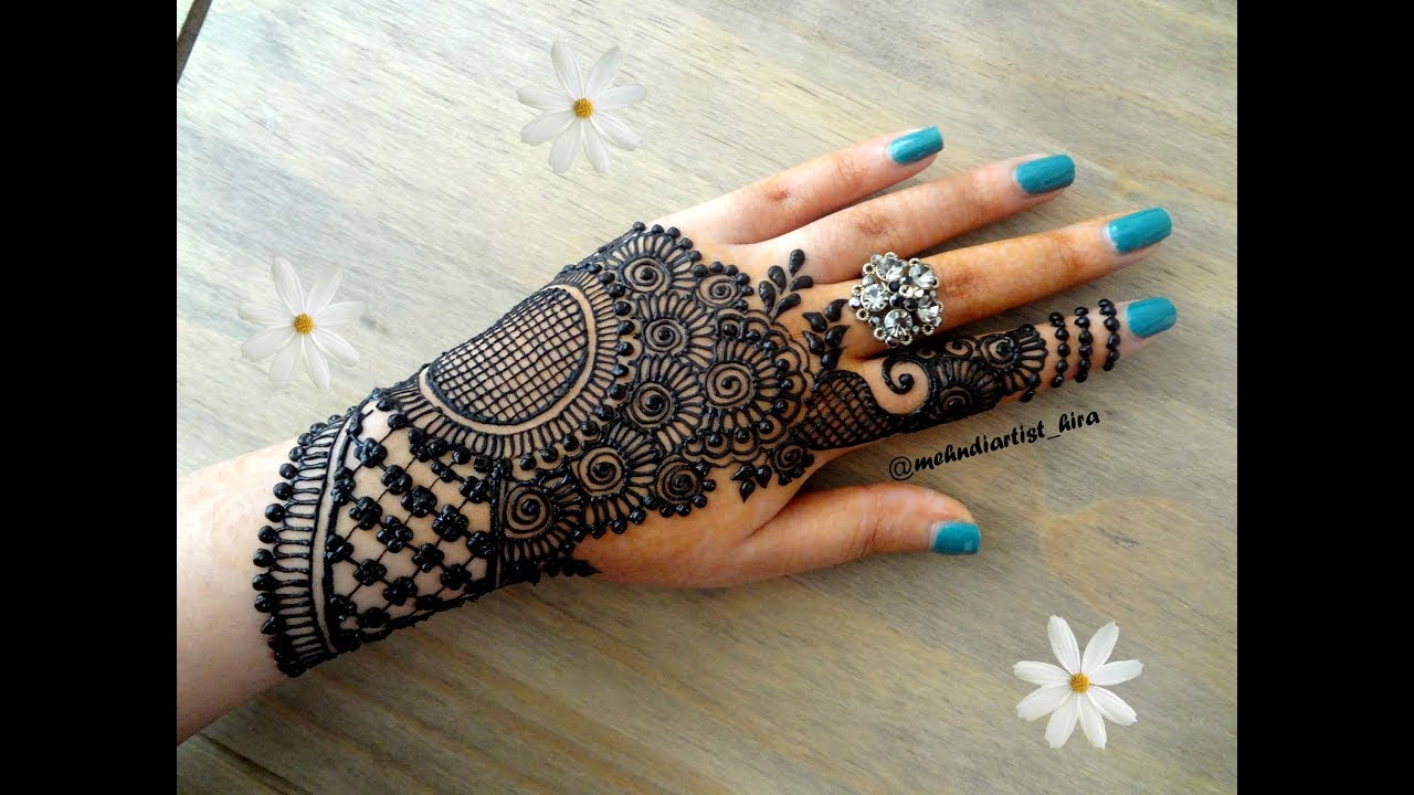 Beautiful Diwali Indo Arabic Unique Stylish Simple Latest Henna