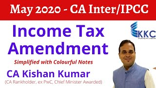 Income Tax Amendment Simplified May 2020 with Colourful Notes I CA Kishan