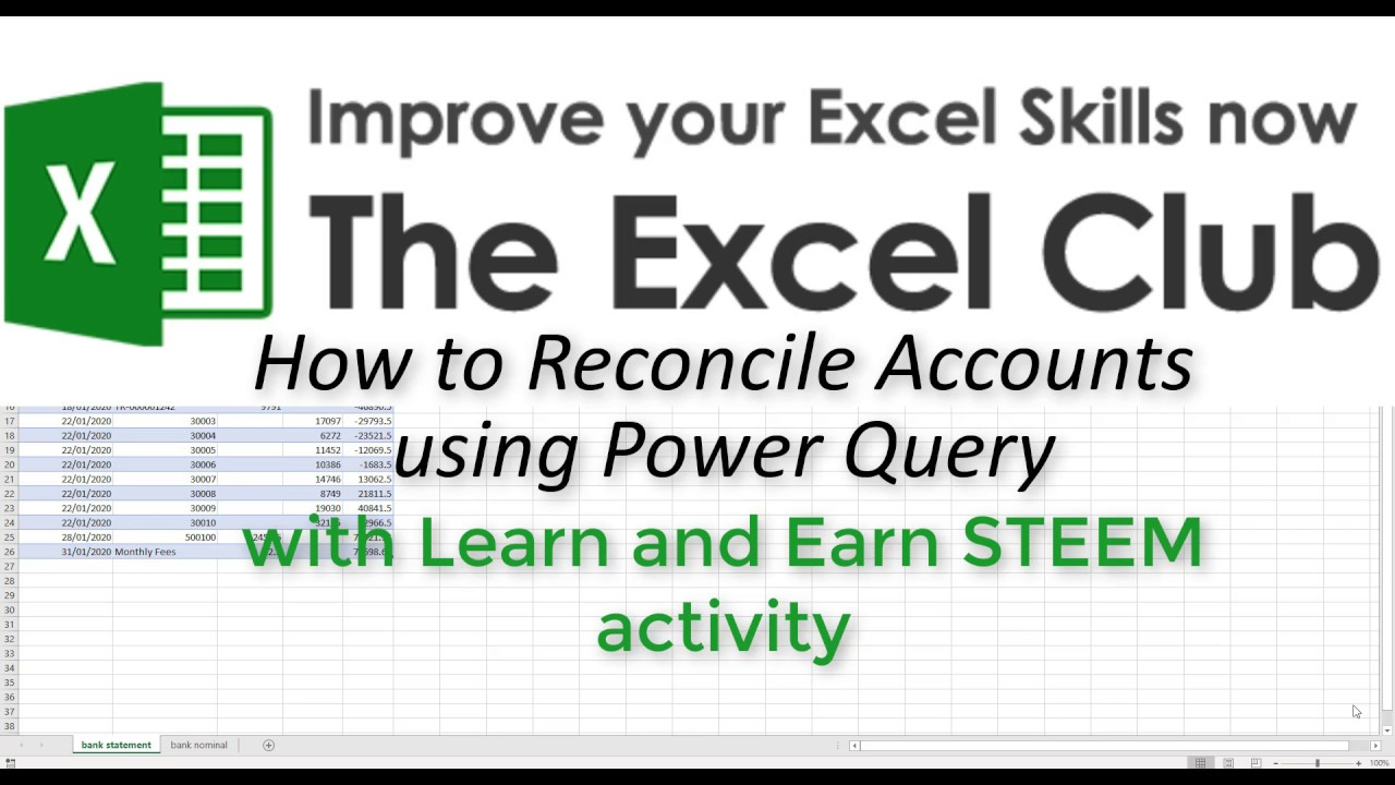 How to Reconcile Accounts using Power Query - The Excel Club