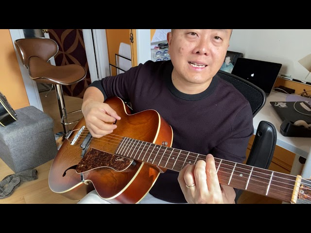 Godin 5th Avenue arch top guitar demo