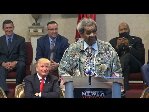 Don King Uses N-Word in Strange Speech While Donald Trump Smiles