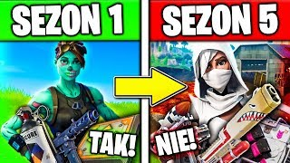 how HAS CHANGED FORTNITE! * Season 1 vs. season 5! * deleted items and the EVOLUTION of BATTLE ROYALE