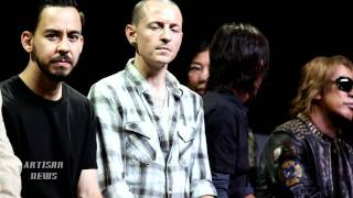 Linkin Park and B'z took to a press conference at the end of Auguis...