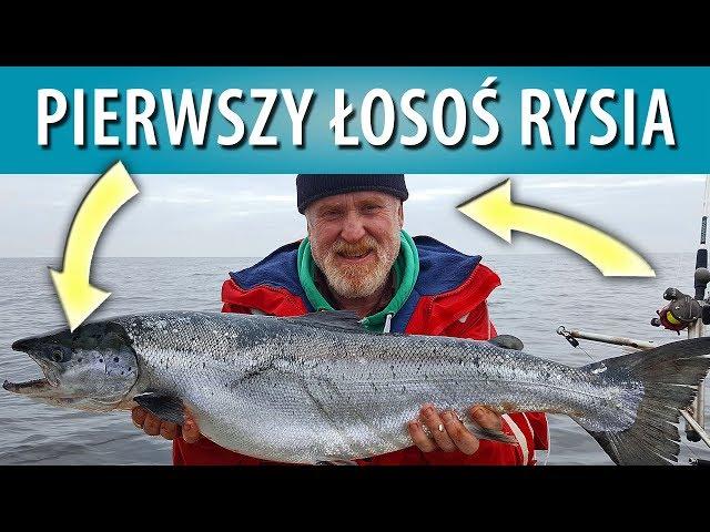 Wyprawa na łososie - pierwszy łosoś Ryszarda...
