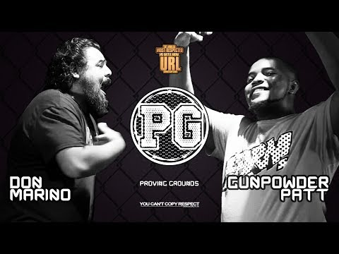 GUNPOWDER PATT VS DON MARINO SMACK/ URL RAP BATTLE