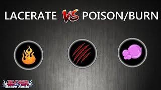 Bleach Brave Souls Lacerate Entenda Lacerate VS poison burn