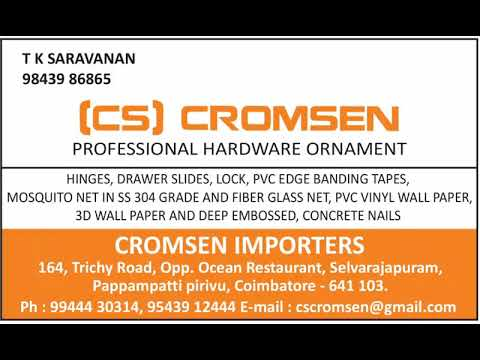 CROMSEN IMPORTERS coimbatore |Stainless steel Mosquito Net|Telescopic  channel|Hinges|Easy relaxchair