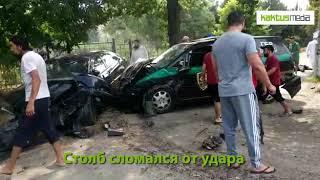 В Бишкеке на ул. Медерова произошла страшная авария