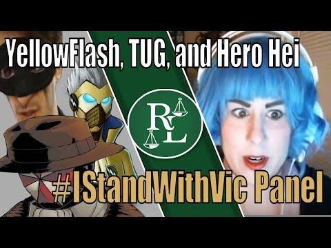 State of #IStandWithVic Panel with YellowFlash, TUG, and Hero Hei