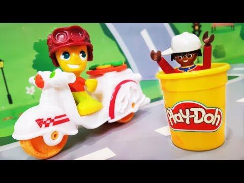 Мультики про машинки. Цветной набор PLAY DOH в мультике - полицейская погоня. Видео для детей