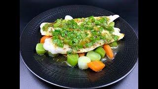 #Хек с овощами и горчично-медовым соусом | Припущенная рыба | Как вкусно приготовить хек