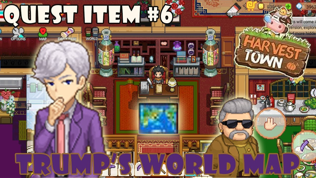 Quest Item Harvest Town - Trump's World Map - YouTube