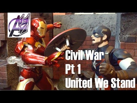 Captain America Civil War [Stop Motion Film]- Captain America vs Ironman