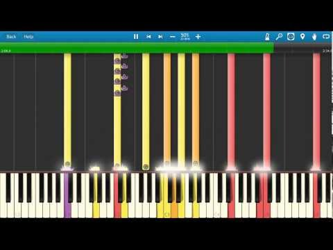 How to play the 2001 Theme on piano  Strauss  Also sprach Zarathustra  Synthesia