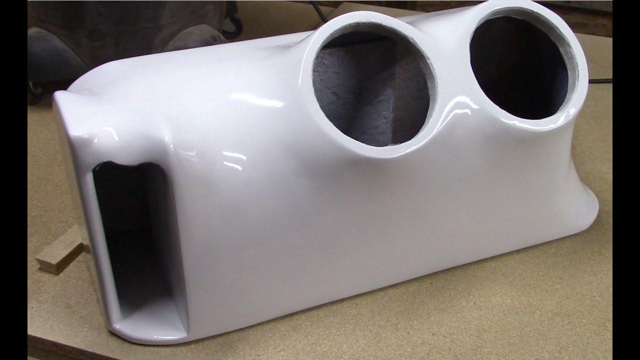 How to fiberglass speaker boxes 3 of 3 subwoofer box for Box subwoofer in vetroresina