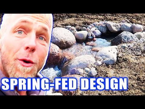 Stream-Fed Waterfall Design: *POND BUILD* And Reveal