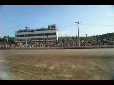 Time-lapse of dirt race, Lebanon Valley Speedway, N.Y.