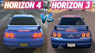 Forza Horizon 4 vs Forza Horizon 3 | Cars Engine Sounds Direct Comparison |