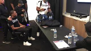 Devin Haney & Zab Judah Watching Ksi Vs Logan Paul Fight (Part 2)- Esnews