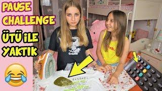 PAUSE CHALLENGE | KIŞKIRTMA & İNTİKAM | ÜTÜ İLE TİŞÖRTÜNÜ KENDİ YAKTI ! - Eğlenceli Çocuk Videosu BF