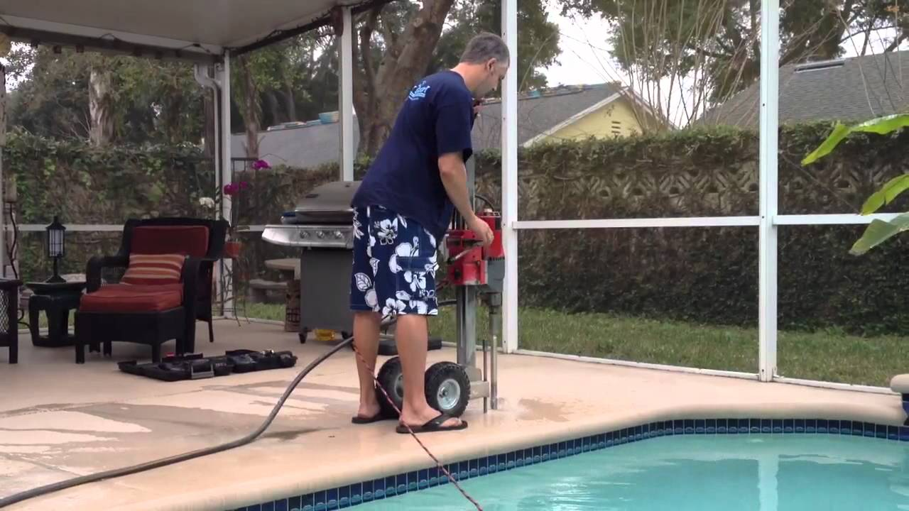Drilling Holes For Pool Safety Fence Youtube