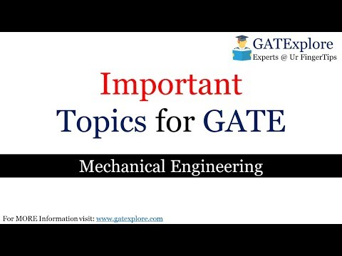 Important Topics for GATE Mechanical Engineering 2019 Start Your Preparation Now (Quick Preparation)