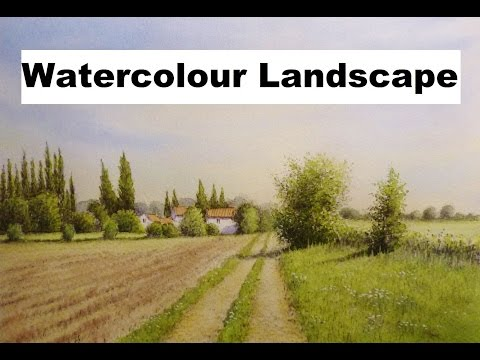 Watercolour Landscape Painting Demo, Pencil and Wash