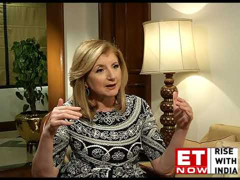 80% Of Indians Are Stressed: Arianna Huffington  ET NOW Exclusive