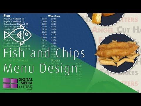Fish And Chip Menu Design