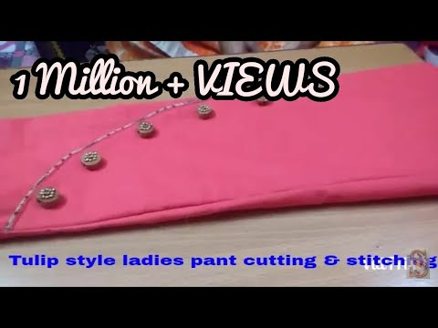 Tulip Style Pant Cutting & Stitching in Hindi by Sara Art And Design