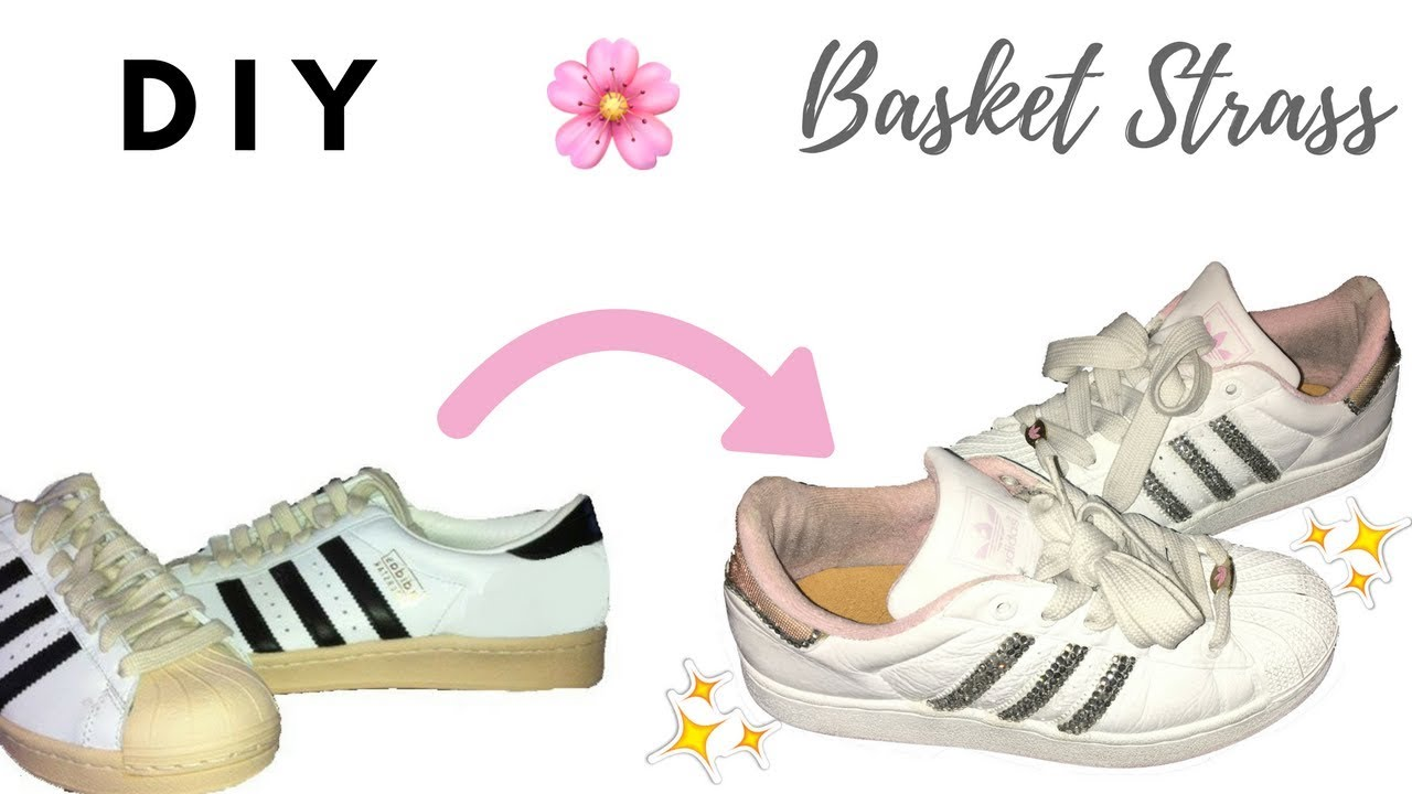 86a0bdee91f Rénover de vieilles basket - Comment customiser des adidas superstar    BLING SNEAKERS - shantiglam