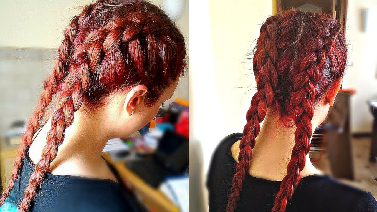 trecce alla kim kardashian dutch braids youtube